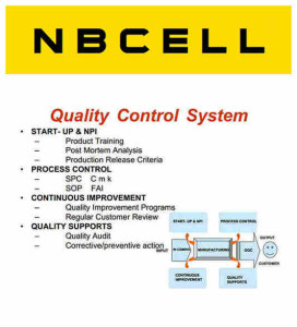 Quality Control from NBCELL battery