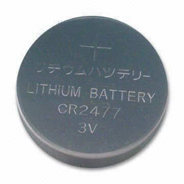 Lithium button cell battery CR2477